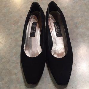 Stuart Weitzman black shoes with crystal heels